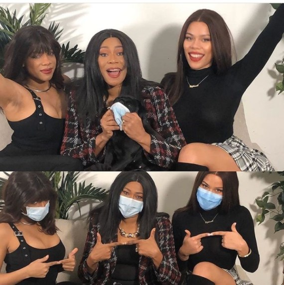 Regina Askia and her daughters could pass for triplets