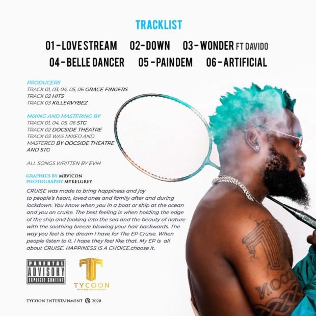 Cruise EP Tracklist