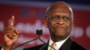 Republican presidential hopeful Herman Cain speaks at a conference in 2011