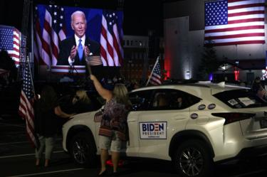 Biden supporters gather in Delaware