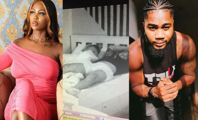 #BBNaija: Ka3na and I only kissed aggressively under the sheets - Praise says (video)