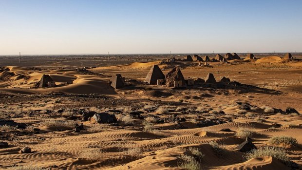 Pyramids at the site