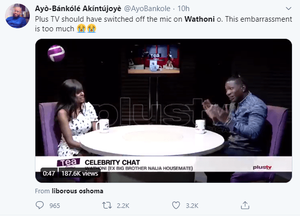 Wathoni trends as Nigerians mock her for failing all the questions asked during an interview (video)