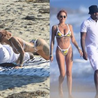 Hip-Hop Mogul, Diddy Kisses Brian Austin Green's Ex-Girlfriend, Tina Louise As They Pack On The PDA At The Beach in Malibu [Photos]