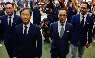 Alvin Yeung Ngok-kiu, Kwok Ka-ki, Kenneth Leung and Dennis Kwok