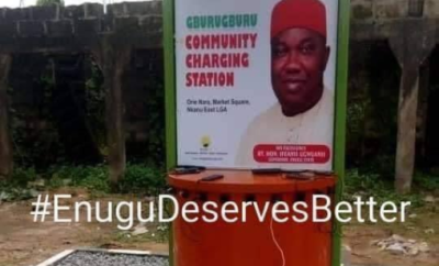 """""""What a joke"""" Nigerians react as community charging station is installed in a village in Enugu"""