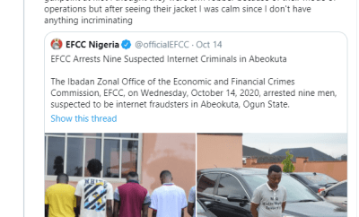 "Nigerian man narrates how his ""nightmare"" began after he was allegedly labeled a fraudster and wrongly arrested by EFCC operatives in Ogun"