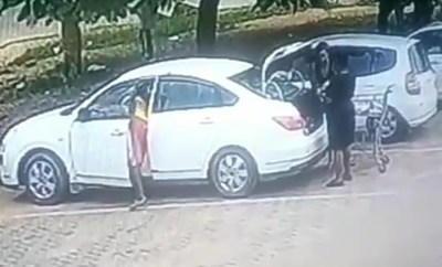 CCTV footage captures boy stealing from a woman