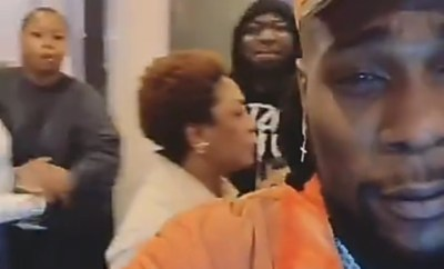 """You are looking at the champion"" Burna boy says as he celebrates his Grammy nomination with his family (video)"