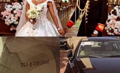 Malivelihood and wife, Deola, give out Lexus car as gift at their wedding + see their massive wedding cake (videos)
