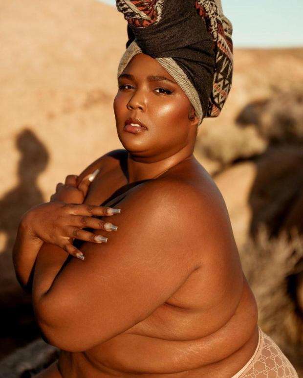 Lizzo poses in only her panties (photos)
