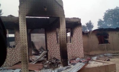 Angry youths allegedly burn down houses and cars of Seriki Fulani in Oyo (photos)