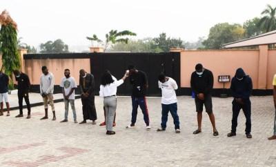 EFCC arrests 13-suspected Internet fraudsters in Ibadan (Photos)