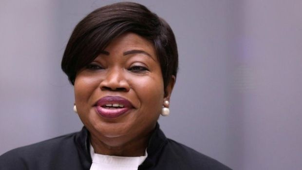 Public Prosecutor Fatou Bensouda attends a trial in the Hague, the Netherlands