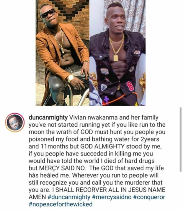 """""""You poisoned my food and bathing water for 2 years"""" Duncan Mighty continues to call out his estranged wife Vivien Nwakama and her family"""