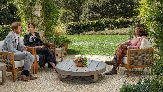 The Duke and Duchess of Sussex talk to Oprah Winfrey