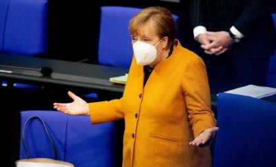 Image shows German Chancellor Angela Merkel