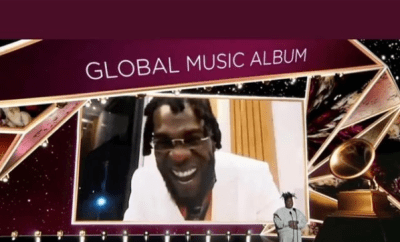 Burna Boy wins Best Global Music Album at 2021 Grammys (video)