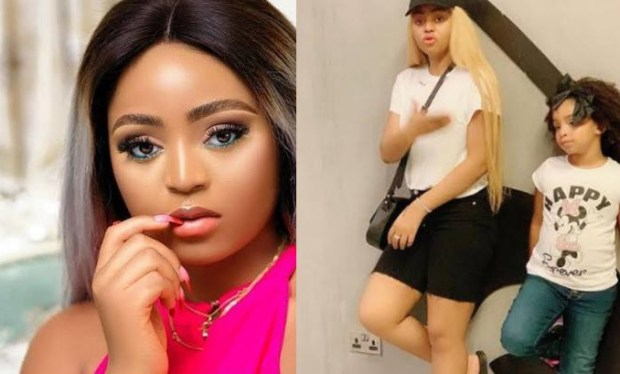 """Regina Daniels shares video of a note she got from her step-daughter describing her as the """"best step-mom"""""""