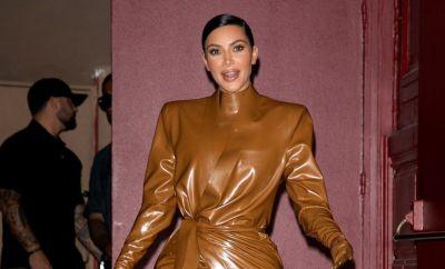 Kim Kardashian West leaves K.West's Sunday Service At Theatre Des Bouffes Du Nord - Paris Fashion Week Womenswear Fall/Winter 2020/2021 on March 01, 2020 in Paris, France