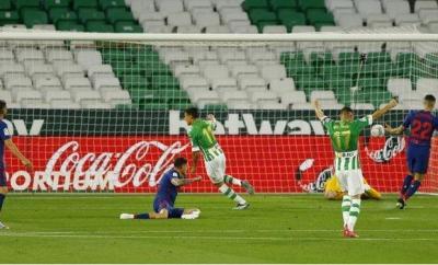 Real Betis celebrate equaliser