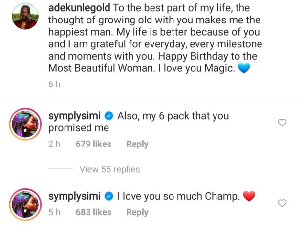The thought of growing old with you makes me the happiest man - Singer, Adekunle Gold expresses love for his wife, Simi on her birthday