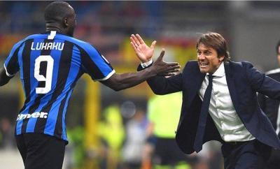 Romelu Lukaku and Antonio Conte