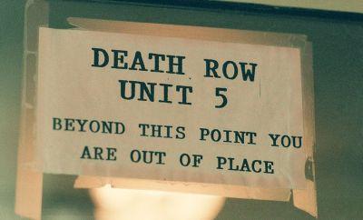 Sign for a prison's death row unit