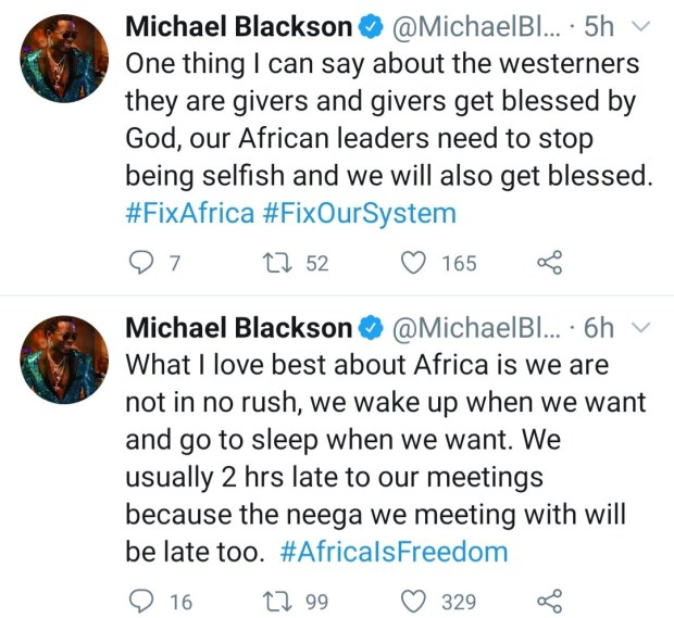 """""""We need to fix Africa"""" Comedian, Michael Blackson laments about the situation in Africa"""