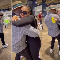 Rosy Meurer Receives Warm Welcome From Her Husband, Olakunle Churchill, As She Returns To Nigeria With Their Son [Video]