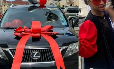 Friends gift media personality, Denrele Edun, a Lexus SUV as his 40th birthday present (photos/video)