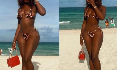Bikini-clad Khloe showcases her banging body (Photos/Video)