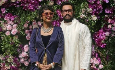 Kiran Rao (left) and Aamir Khan. Photo: March 2019
