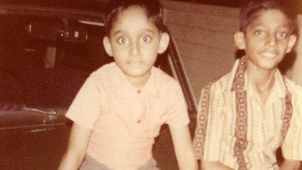 Sundar Pichai with his brother, growing up in Chennai, India