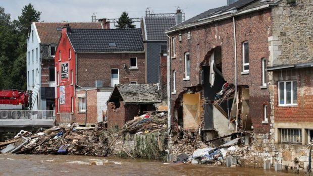 Flood damage in Pepinster