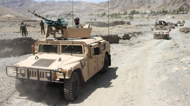 Afghan security forces begin operations against Taliban militants after being deployed around Torkham border point between Afghanistan and Pakistan in Nangarhar province, 23 July 2021