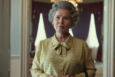 Imelda Staunton portraying Queen Elizabeth II in netflix drama The Crown