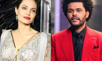 Angelina Jolie and The Weeknd spark dating rumors after they were spotted leaving a restaurant (photos)