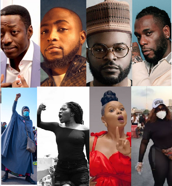 #EndSARS: Court strikes out suit against Sam Adeyemi, Davido, Falz, BurnaBoy, Aisha Yesufu and others