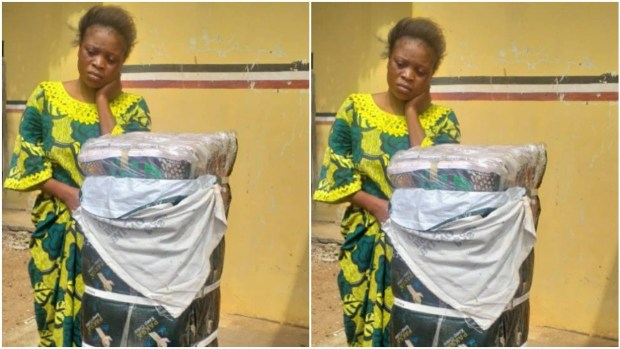 Woman arrested for allegedly stealing N500,000 bundle of fabrics in Kwara
