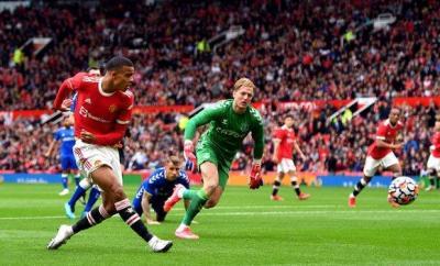 Mason Greenwood scoring against Everton