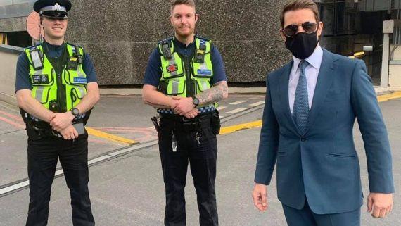Tom Cruise meeting British Transport Police