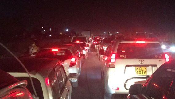Traffic on Mombasa road