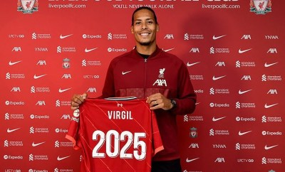 Liverpool defender Virgil van Dijk signs contract extension until 2025