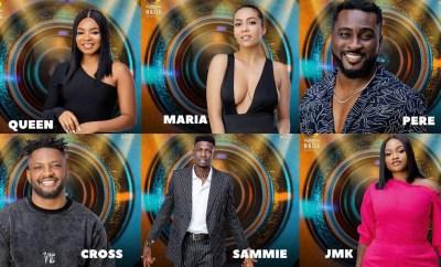 #BBNaija: Sammie, Maria and JMK evicted from Big Brother Naija
