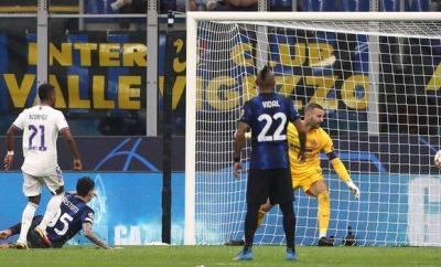 Rodrygo scores for Real Madrid at Inter Milan
