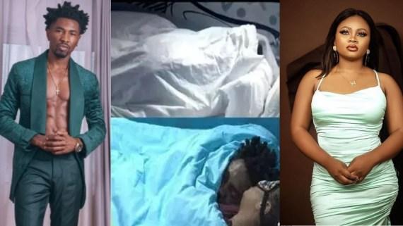 #BBNaija: Nigerians react to videos of Tega and Boma making out