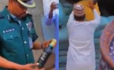 Hisbah police intercepts truck carrying 3600 bottles of beer covered with bags of chicken feed in Kano (video)