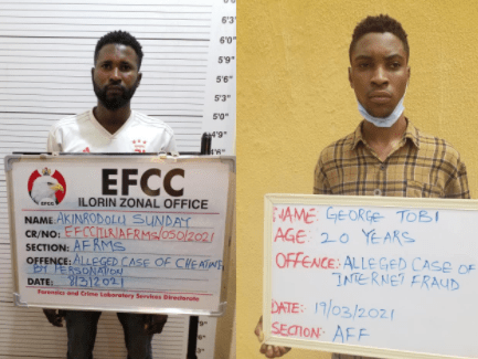 Two Nigerians impersonating US soldiers jailed for love scam in Kwara