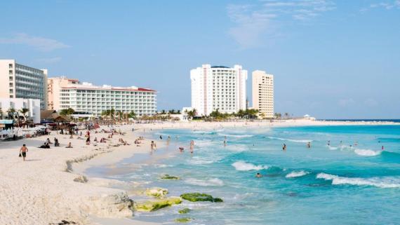 A beach in Cancun, Quintana Roo, Mexico